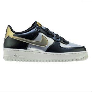 Nike Air Force Ones LV8 GS Metallic Cool Grey Gray